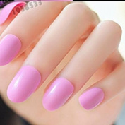 EchiQ Sweet Candy Fake Nails Light Purple Fashion Round Nail Art Lady Plastic Nail Tips Round Top Nails 24pcs