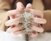 Jovono Women's Oval False Nail Tips Fake Nails French Full Warp