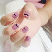 Jovono False Nail Tips French Fake Nails Short for Women and Girls