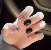 Jovono Full False Nail Tips Short Fake Nails for Women and Girls