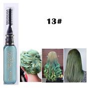 1x Professional Hair Chalk Vibrant Colours Tools Hair Temporary Hair Dye Hair Colour Mascara Green