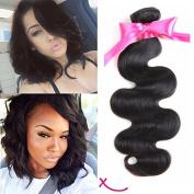 extiff Woven Natural Human Hair Brazilian Wave – 10 inch – 25 cm