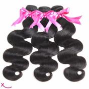 """extiff – Natural Human Hair Brazilian Remy Hair Wavy Hair – 28 """"70 cm – 1 Strip"""