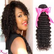 extiff – Weave Curly Brazilian Human Hair – Natural – 10 Inch – 25 cm – 1 Strip