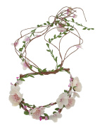 Merroyal Bridal Flower Berries Floral Crown for Wedding Festivals