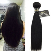 Sunny 1 Bundle 60cm Brazilian Virgin Human Hair Weft Silky Straight 100% Unprocessed Real Human Hair Weave Extensions 1b# 100g