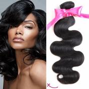 """extiff – Natural Human Hair Brazilian Remy Hair Wavy Hair – 12 """"30 cm"""