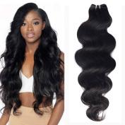 "extiff- Remy Brazilian Hair Natural Wave Weave. 18 ""45 cm"