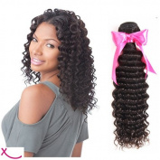 extiff – Natural Brazilian Human Hair Remy Hair Deep Wave Curly, 41cm