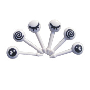Cute Cartoon Expression Fruit Fork Plastic Mini Eyes Decoration