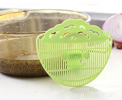 PriMI 1Pc Useful Cute Smile Face Rice Washing Sieve Cleaning Block Strainer Kitchen Gadget