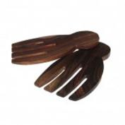 Hand shaped sonokeling wood sald servers