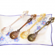 Dreammy Cutlery Tableware Vintage Carved Small Coffee Tea Spoon Mini Dessert Spoon For Snacks New