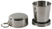 EXOH Stainless Steel Portable Outdoor Camping Travel Folding Cup