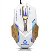 TWIFER 3200 DPI 6D Buttons LED Mechanical Wired Gaming Mouse For PC Laptop WH