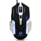 TWIFER 3200 DPI 6D Buttons LED Mechanical Wired Gaming Mouse For PC Laptop BK