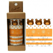 Cute craft tape set bear animal dot flower stripe from Japan