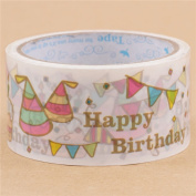 Big birthday party cake hat Deco Tape 25m from Japan