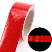 Warning Red Refective Tape Sticker 1 Roll Safety Self-adhesive Hazard Caution High Intensity Vinyl Tape