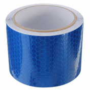 Blue High Intensity Reflective Vinyl Safety Tape Roll Self-Adhesive 3 Metre Lengths Beauty DIY Mart