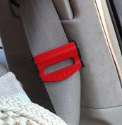 Jiaqinsheng Adjustable Safe Car Seat Belt Clips Straps Locking Buckles-Red