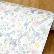 LoveFaye Rural Floral Art Contact Paper Peel & Stick Shelf Liner Refurbish Old Home Office Storage Supplies 45cm By 3m