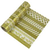 EDGEAM Washi Tape Set of 10 Decorative Sticker Paper Adhesive Designs Tape Masking Tape