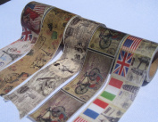 10 roll 3cm wide,5m in length, Vintage style Japanese masking tapes, craft decor paper tapes,Japanese washi paper decor tapes