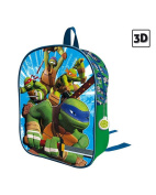 NINJA TURTLES backpack 31 cm with decoration in relief 3D