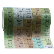 Hybsk 5 Rolls Decorative Washi Masking Tapes DIY Craft Tapes Paper Tapes