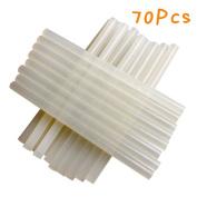 """MAIKEHIGH All Purpose Stick Glue Sticks- Clear 0.27"""" (7mm) D, 3.94"""" (100mm)L- 70 Sticks per Bag- For 20 W Hot Glue Gun"""
