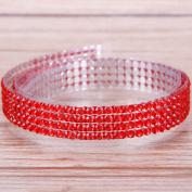 RUNGAO DIY Colourful Adhesive Tape Self-Adhesive Rhinestones Stick Scrapbooking Craft Sticker Tape Nail Decor Red