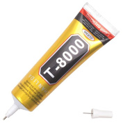 Zooarts 50ml 3.7fl.oz T-8000 Multipurpose Clear DIY Craft Industrial Adhesive Glue Tool For Cellphone Middle Frame Back cover Jewellery Glass