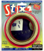 Stix2 10mm Permanent Glue Dots Acid Free Hobby & Craft Adhesive x200 Per Roll
