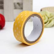Gemini_mall® Decorative Dots Washi Sticky Paper Masking Adhesive Tape Scrapbooking Craft DIY