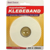 Double Sided Tape 5 m x20 mm White Best Choice