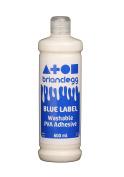 1 x Brian Clegg GL600B Washable PVA Adhesive Glue Blue Label Bottle 600ml