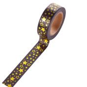 Cosanter 5PCS Washi Tape Gold Stars Masking Adhesive Tape for Scrapbooking DIY Office Gift Wedding