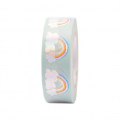 Rainbow and Clouds Washi Masking Tape - 10m Craft