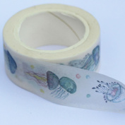 Jellyfish Washi Paper Tape Decorative 10m x 20mm - Craft