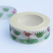 Flamingo Themed Decorative Adhesive Washi Masking Tape 7m Craft