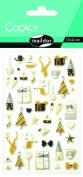 Maildor Cooky Christmas Stickers , Black/Gold