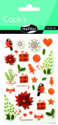 """Maildor Cooky """"Christmas Flowers"""" Stickers, Multi-Colour"""