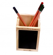 Cdet 1X Pen Holder Creative Wooden Square Blackboard Makeup Container Storage Organiser Desk Tidy