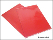 Transparent Colour A4 Sheet Self Adhesive Sticky Back Vinyl Craft Sticker RED