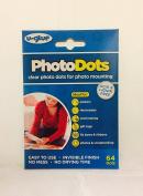 U-Glue Thin Photo Glue Adhesive Dots Permanent 64 per pack 10mm dia 200352