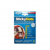 U-Glue Sticky Dots Permanent Extra Strength Adhesive Pack of 64 10mm dia 200101