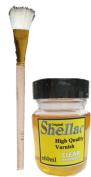 Gold leaf Shellac Varnish 60ml & Brush Bling my shoes Trademark UK00003085705