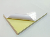 50 Sheets A4 White GLOSSY Self Adhesive / Sticky Back Label Printing Paper Sheet