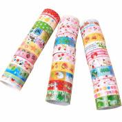 AOHANG 10pcs Cartoon Decorative Washi Rainbow Sticky Paper Masking Adhesive Tape Scrapbooking DIY